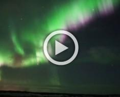 Pensó que estaba filmando una aurora boreal, pero filmó algo MÁS INCREÍBLE