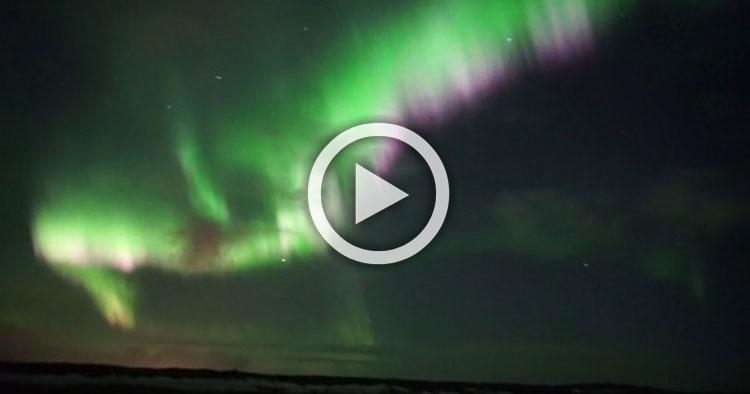 Pensó que estaba filmando una aurora boreal, pero filmó
