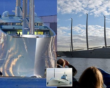 Este es el primer viaje del 'mega-yate A', el mayor (y más caro) yate de vela del mundo