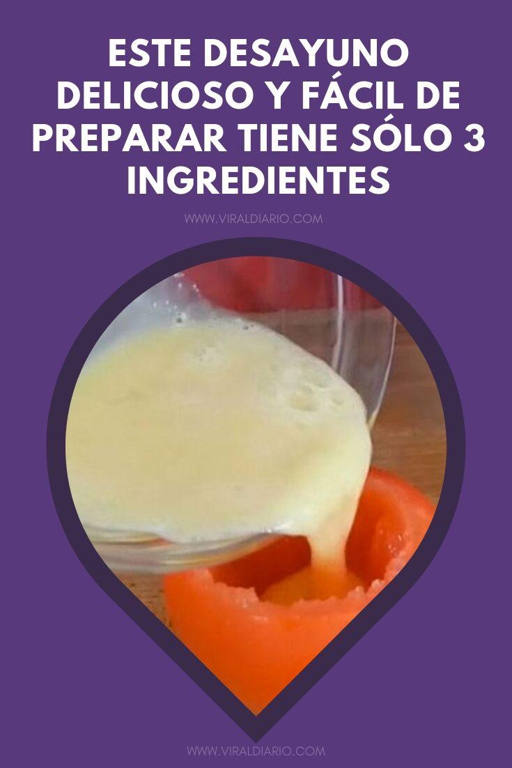 Este desayuno delicioso y fácil de preparar TIENE SÓLO 3 ingredientes. ¡Y además también es saludable!