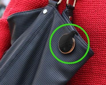 Parece un bolso normal. ¿Pero ves ese clip negro? ¡Esto podría salvar tu vida!