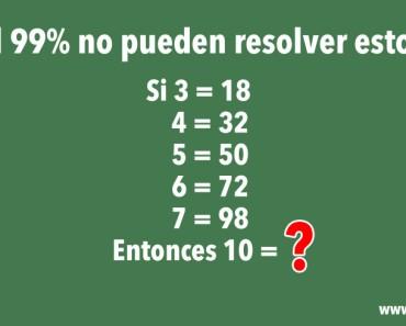 El 99% de las personas no pueden resolver esto...