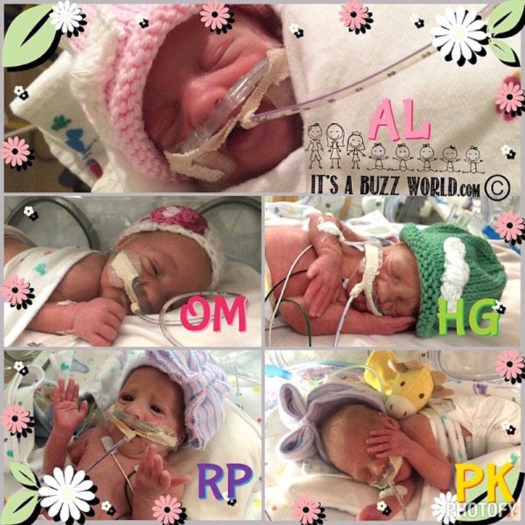 Sus 5 bebés nacieron sanos, pero su nacimiento conmocionó a los médicos por una razón...