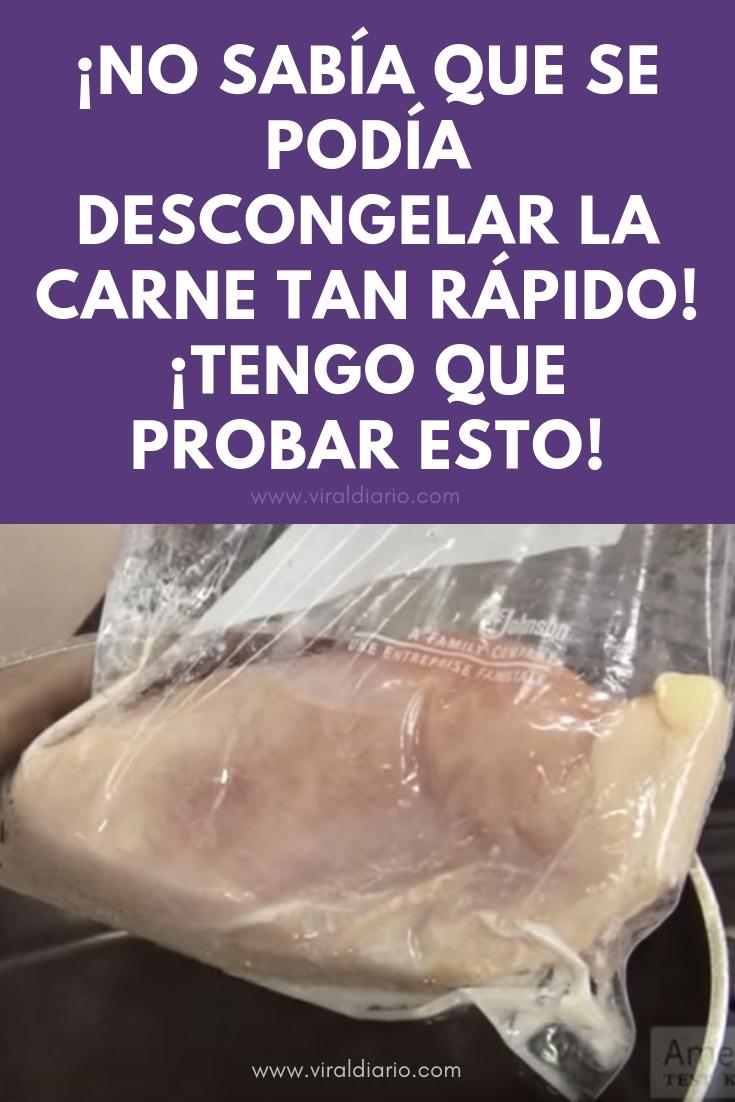 ¡No sabía que se podía descongelar la carne tan rápido! ¡Tengo que probar esto!