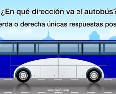 ¿En qué dirección va este autobús? El 90% de los niños de pre-escolar aciertan la respuesta