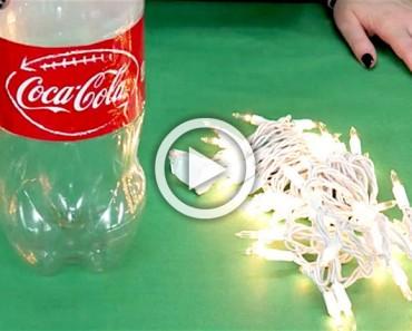 Con sólo una botella de Coca-Cola y algunas luces, ¡hace algo PERFECTO para esta Navidad!