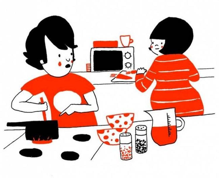 7 ilustraciones que muestran que el verdadero amor está en las pequeñas cosas cotidianas