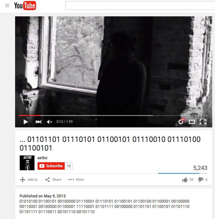 Este macabro vídeo llamado 1B-X-1371 contiene mensajes amenazantes, y nadie sabe quién lo hizo