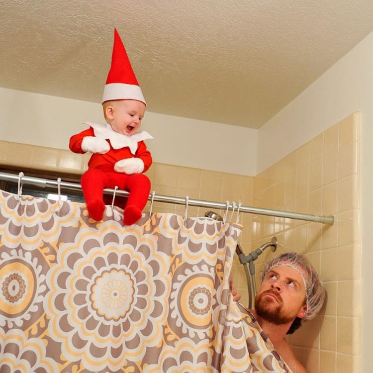 Este creativo papá transforma a su bebé de 4 meses de edad en un elfo (Fotos)