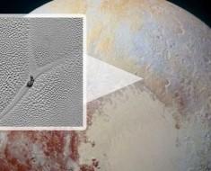La NASA descubre un misterioso 'caracol' arrastrándose por la superficie de Plutón