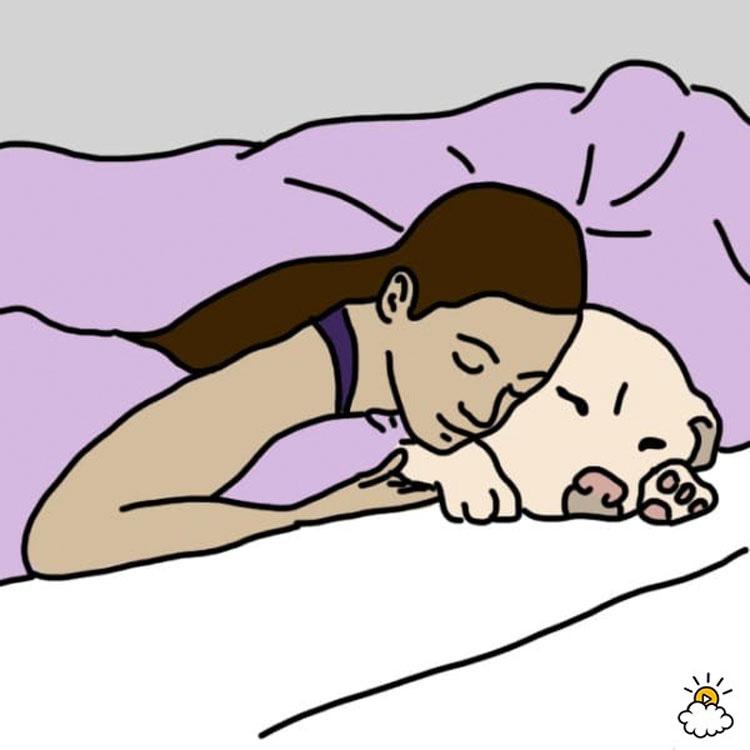 ¿Cómo duermes con tu mascota? ¡La respuesta revela secretos en vuestra relación! Impresionante