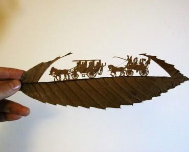 Este arte increíblemente detallado está tallado en una sola hoja. Mira el resto de su obra