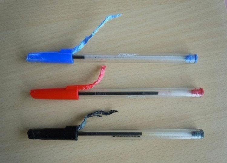 Esta es la razón por la que los bolígrafos Bic tienen un agujero en el tapón. ¡GENIAL!