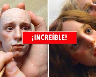 Este ruso crea muñecas con las caras tan realistas que te dejan confundido. Hermoso y aterrador