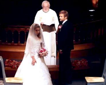 Ella tiene 12 años. Él 37. Mira lo que hace ella en su boda... Estoy atónito
