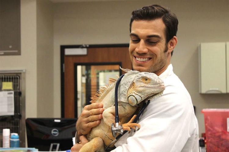 Parece un veterinario normal, pero cuando se quita la máscara quirúrgica...