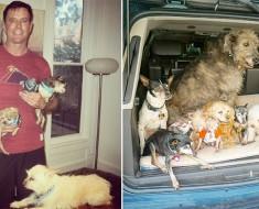 Este hombre dedica su vida a la adopción de animales viejos que habrían sido sacrificados