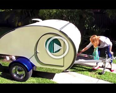 Se parece a otras caravanas, pero cuando saca esto... ¡Quiero una para mí!