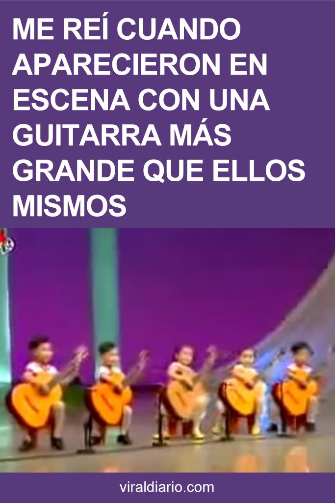 Me reí cuando aparecieron en escena con una guitarra más grande que ellos mismos. ¿Pero qué es lo pasa después?