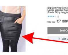 Una mujer hace ESTO a un sitio web que ponen unos pantalones de talla grande a una modelo de esta forma