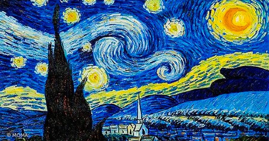 Resultado de imagen de la noche estrellada de van gogh