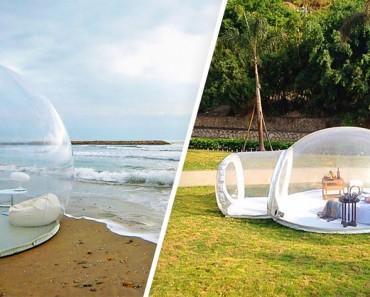 Esta increíble tienda con forma de burbuja transparente te permite dormir bajo las estrellas