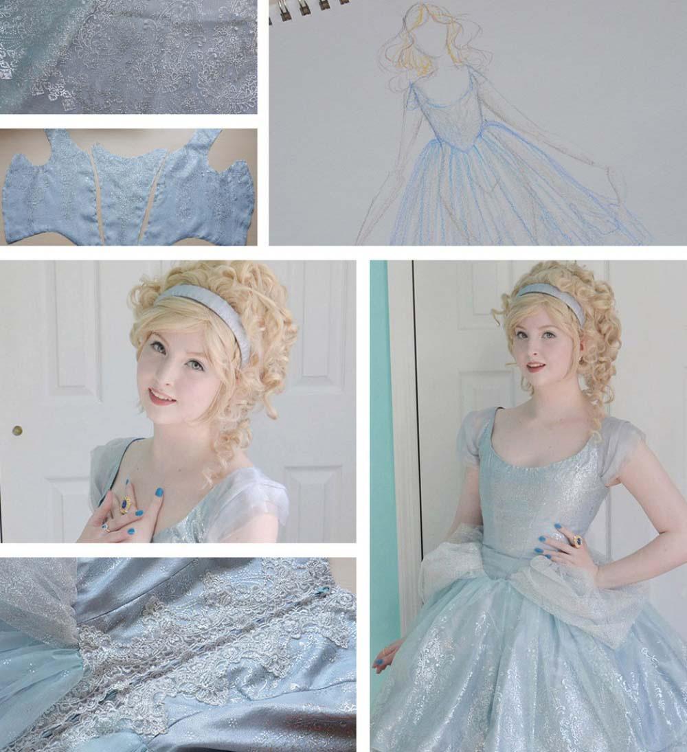 Esta chica de increíble talento hace unos vestidos que no puedes apartar los ojos de ellos