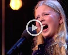 Esta nerviosa niña de 12 años dejó a todos asombrados. Ahora mira las caras de los jueces...