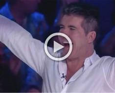 Simon Cowell no puede dejar de saltar de la silla cuando ESTA audición acaba... Increíble