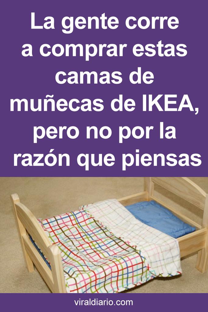 La gente corre a comprar estas camas de muñecas de IKEA, pero no por la razón que piensas