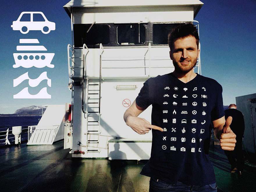 Esta camiseta te permite comunicarte en cualquier país, aunque no hables su lenguaje