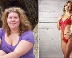 Esta mujer perdió 50 kilos (sin ninguna cirugía) y ahora es modelo de bikinis