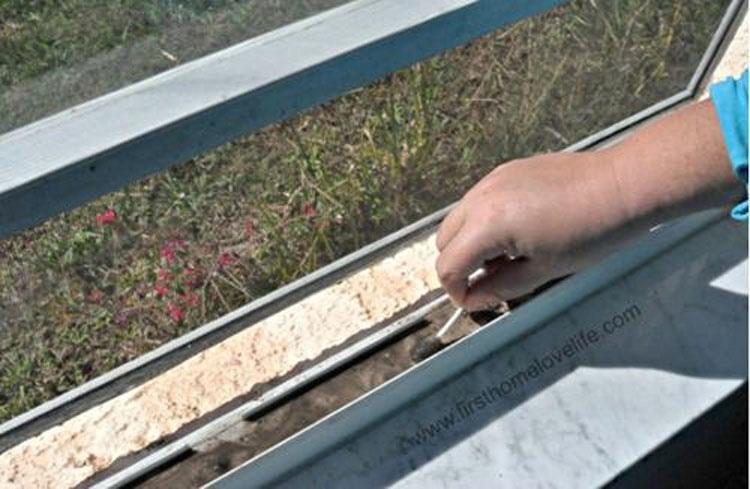 Cubre los carriles de las ventanas y después vierte agua. No tenía ni idea de que fuera tan fácil 3