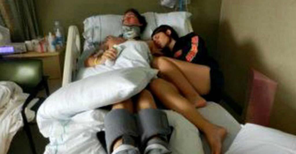"""Se niega a """"desconectar"""" a su marido... 3 años después, se despertó y dijo tres palabras"""