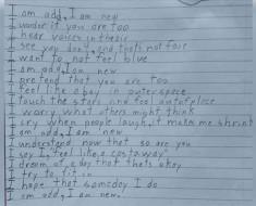 Su hijo de 10 años escribió este poema para la clase. Cuando lo leyó, se emocionó... y yo también
