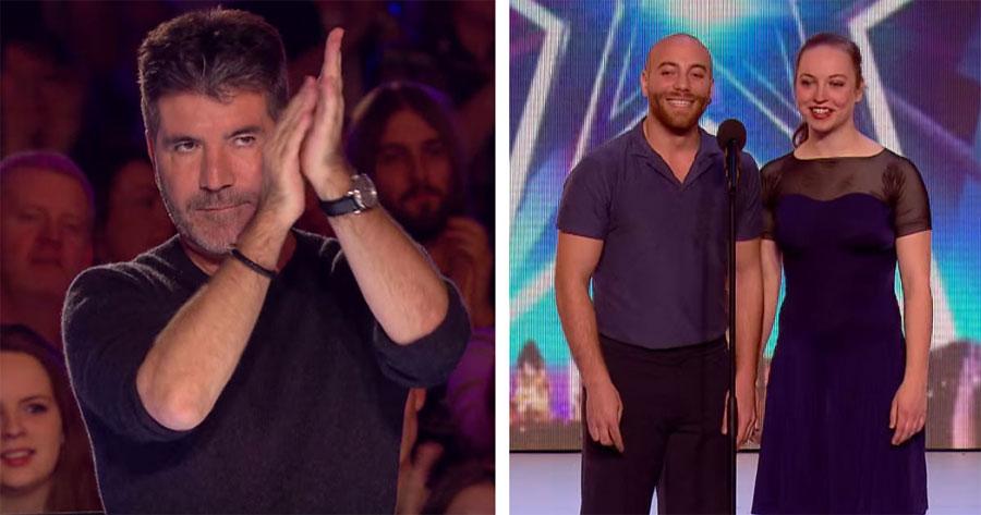 Cuando una pareja hace esto en el escenario, Simon se quedó completamente ASOMBRADO. ¡Increíble!