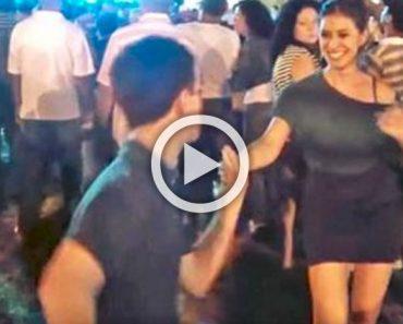 No esperaba mucho cuando este adolescente le propuso bailar. Segundos más tarde...