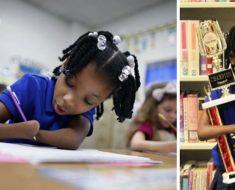 Esta niña de 7 años que nació sin manos gana una competición nacional de escritura a mano
