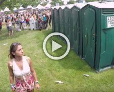 Esto parece un urinario portátil normal, pero cuando se abre todo el mundo se queda aturdido
