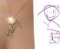 Este artista transforma dibujos de niños en impresionante joyería. Mira sus trabajos...