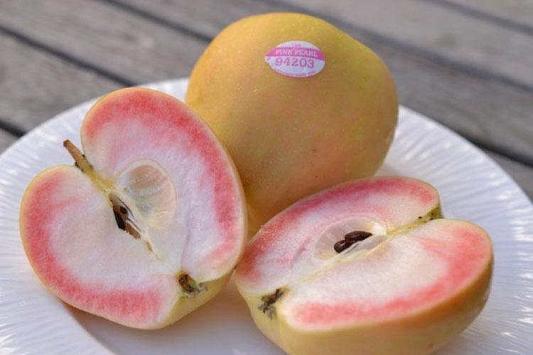 Dio un mordisco a una manzana, y se encontró con esto... ¿No te parece extraño?
