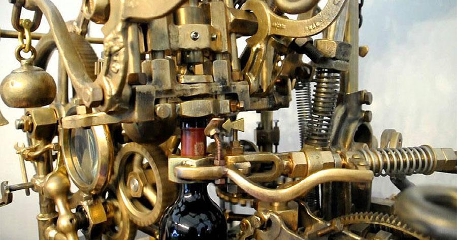 Esta máquina construida a mano hace algo que tienes que ver por ti mismo... ¡Loca y genial!