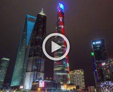 Los 4 años de la construcción del segundo edificio más alto del mundo reducidos a 2 minutos
