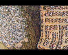 La enorme brecha entre ricos y pobres, capturada por drones... ¡Absolutamente terrible!