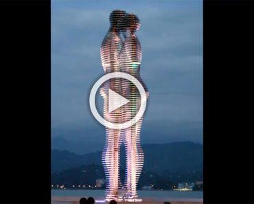 Estas estatuas pasan a través de la otra, contando una trágica historia de amor...