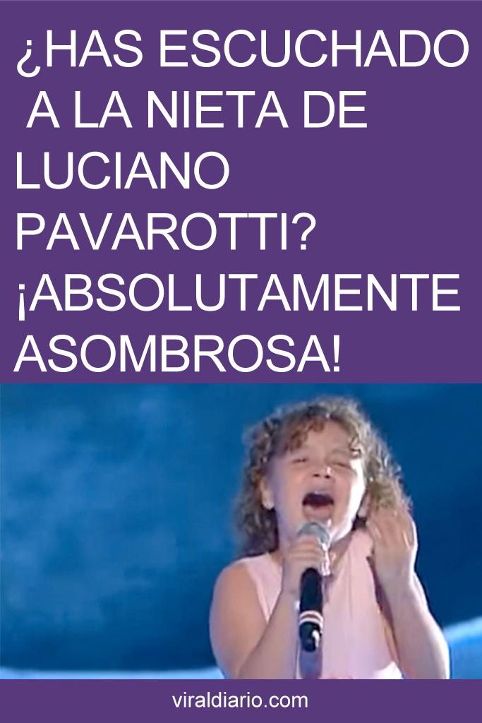 ¿Habías escuchado a la nieta de Luciano Pavarotti? ¡Absolutamente ASOMBROSA!