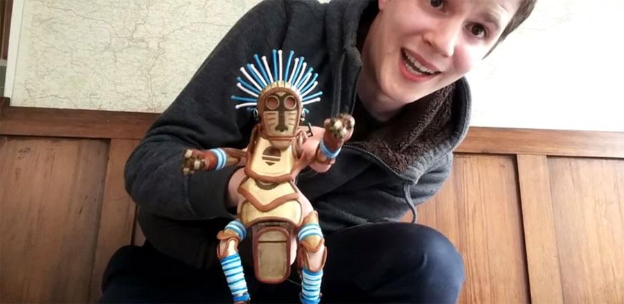 Tiene un talento INCREÍBLE para realizar marionetas de dedo. Mira su nueva creación... 1