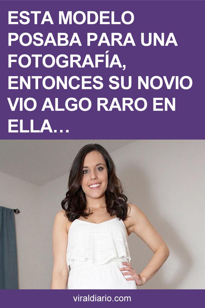 Esta modelo posaba para una fotografía, entonces su novio vio algo raro en ELLA...