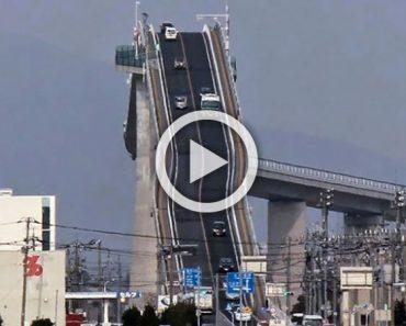 ¡No, esto no es una montaña rusa! Es un puente en Japón. Míralo en acción...