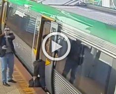 Cuando se disponía a subir al tren su pierna se quedó atrapada. Esto es lo que sucedió después ...